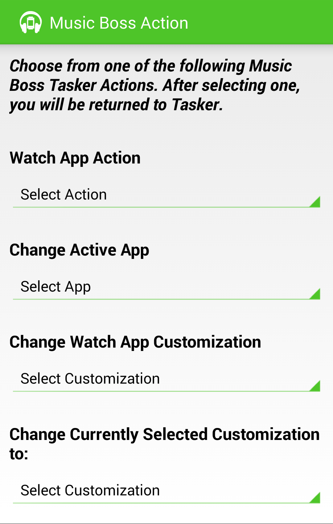 Control with Tasker