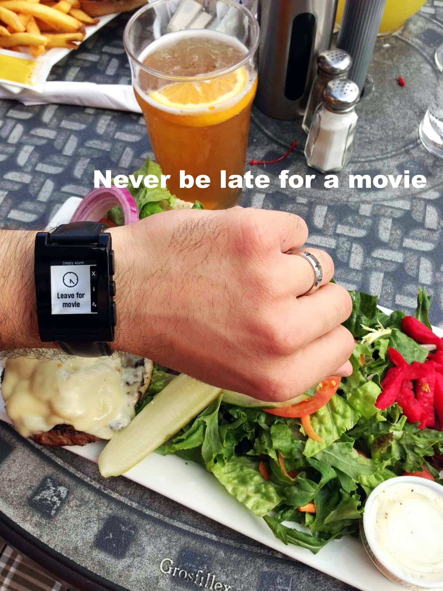 Never be late